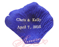 100 Hot Foil Personalized Silk Rose Petals