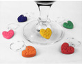 Handmade Valentine Heart Glass Charms Polymer Clay