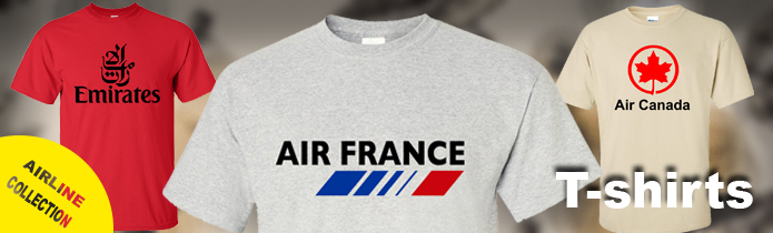 Airline t-shirts