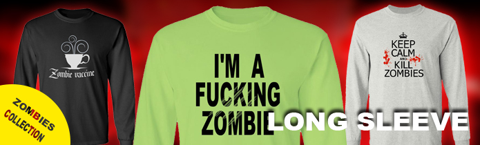 Zombie Long Sleeve T-Shirts