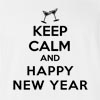 Keep Calm And Happy New Year T-shirt