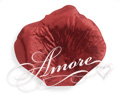 Crimson Red Metallic Red Silk Rose Petals Wedding 600