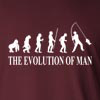 The Evolution Of Man Fishing Outdoors Long Sleeve T-Shirt