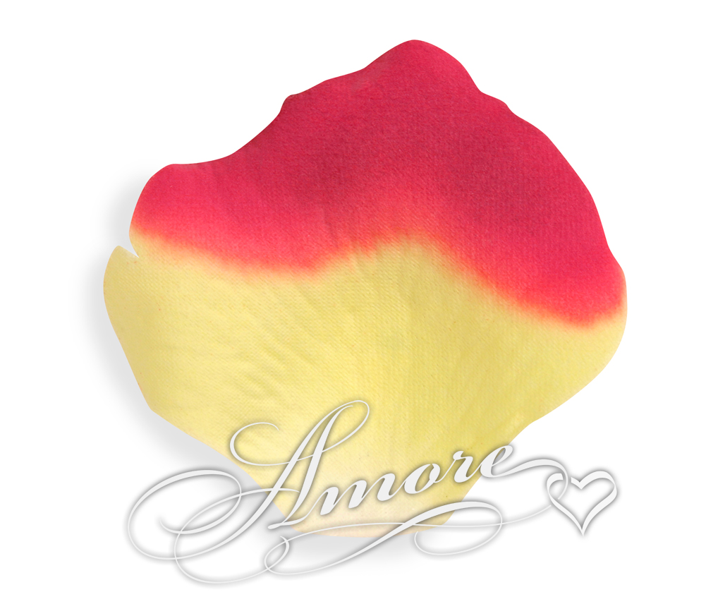 Athena Yellow and Red Silk Rose Petals Wedding 1000